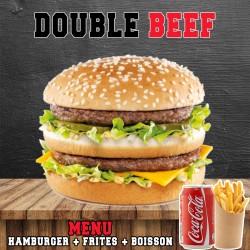 MENU DOUBLE BEEF