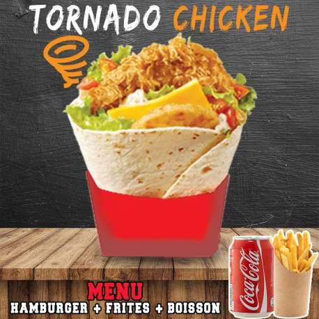 MENU TORNADO CHICKEN